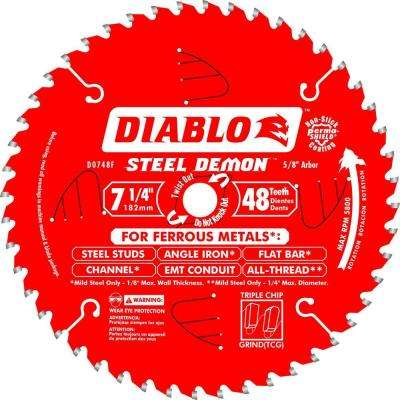 7-1/4 in. x 48-Tooth Steel Demon Ferrous Metal Cutting Saw Blade