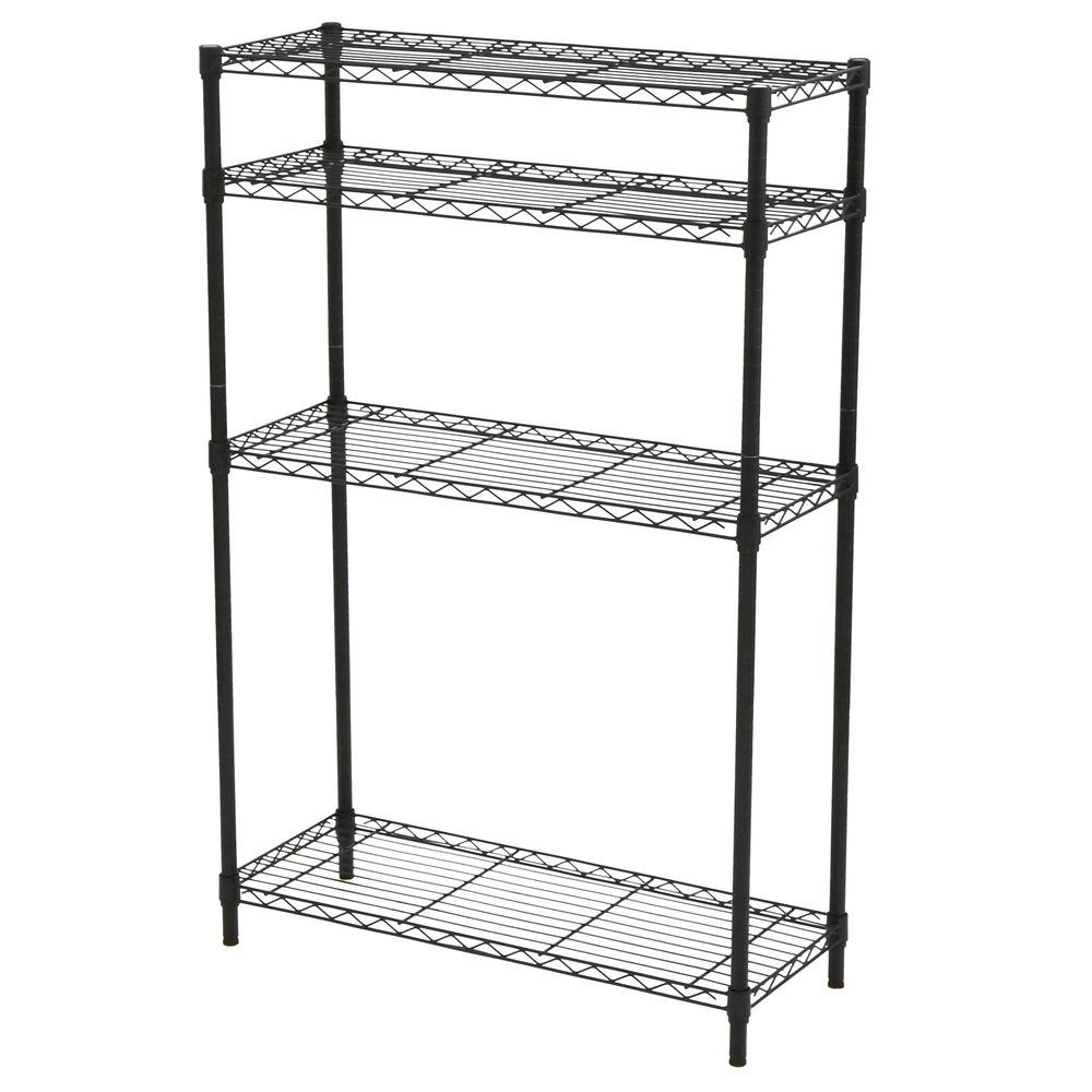 HDX 54 in. H x 36 in. W x 14 in. D 4 Shelf Steel Unit in Black