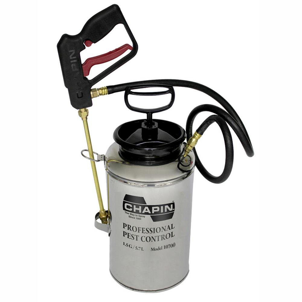1.5 Gal. Stainless Steel Professional Pest Control Sprayer