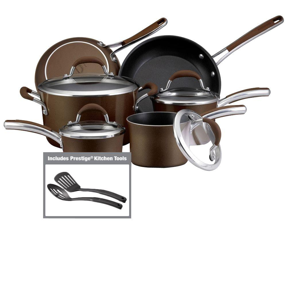 Farberware Affiniti 12-Piece Cookware Set in Bronze-DISCONTINUED
