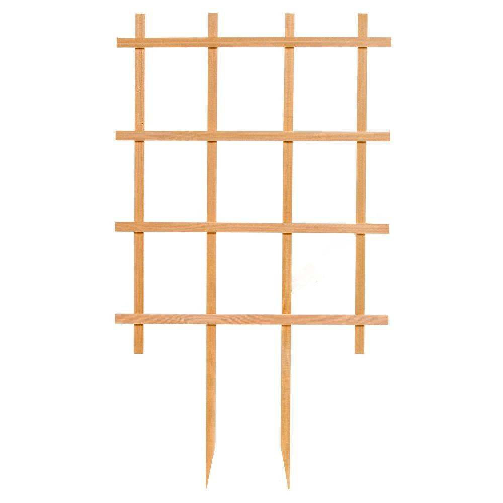 24 in. W x 42 in. H Wood Rectangle Trellis