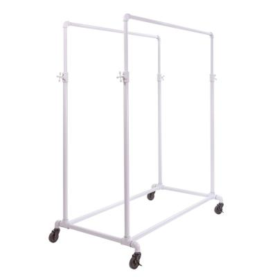 Pipeline Adjustable Double Rail Clothes Rack (50 in. W x 78 in. H)