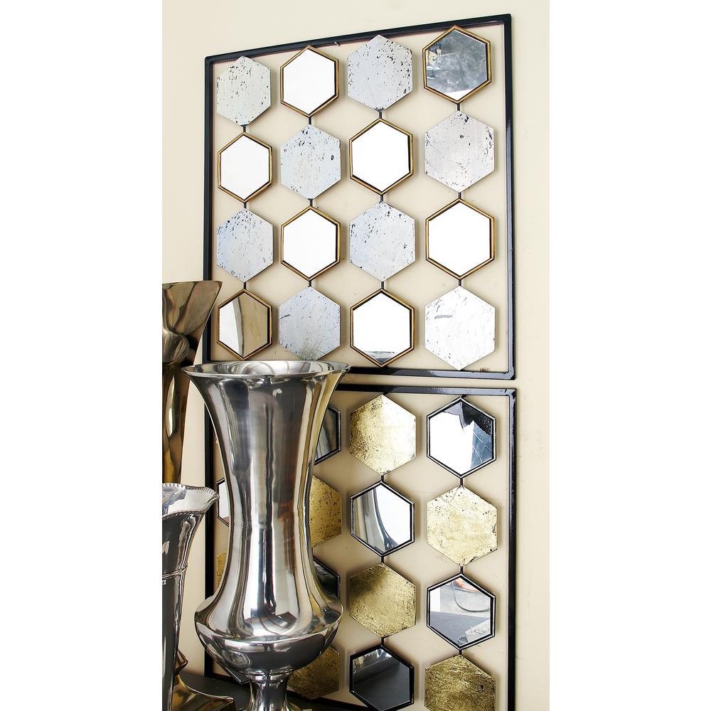Metal Honeycomb Mirror Wall Decors 2