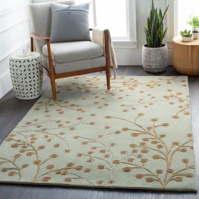 Aloysia Moss 2 ft. x 4 ft. Hearth Indoor Area Rug