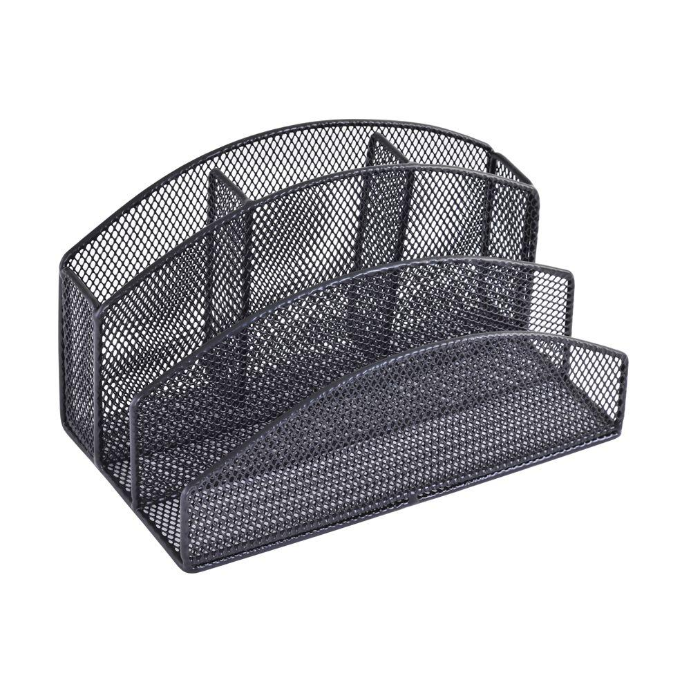 Buddy Products 5-Compartment Mesh Desk Organizer
