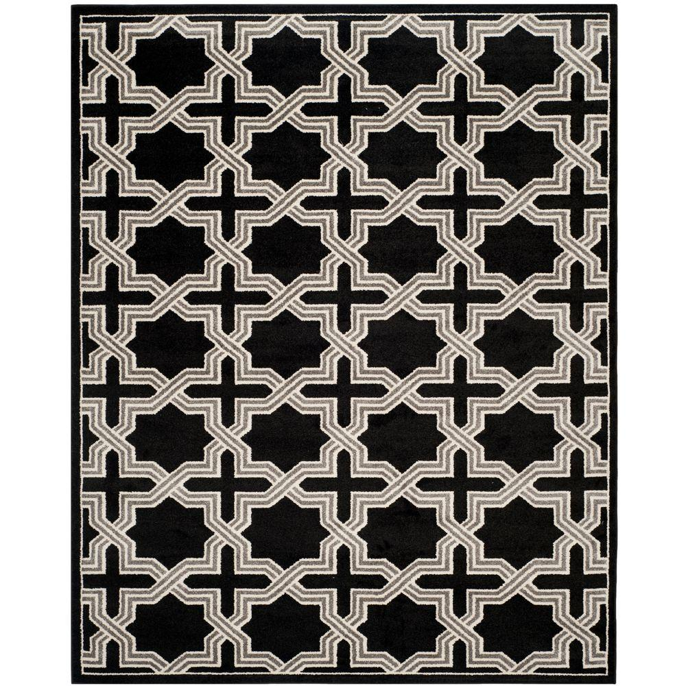 Amherst Anthracite/Gray 9 ft. x 12 ft. Indoor/Outdoor Area Rug