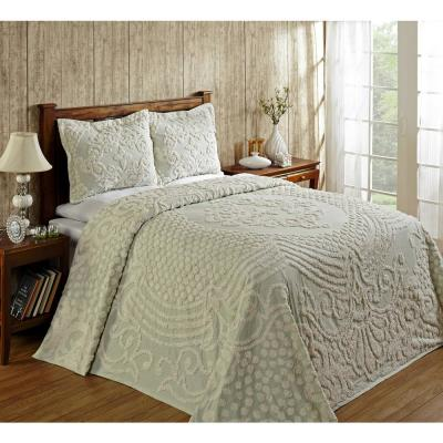 Florence 102 in. X 110 in. Sage Queen Bedspread