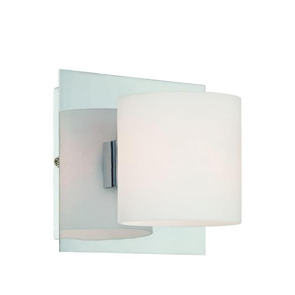 Geos Collection 1-Light Chrome Wall Sconce