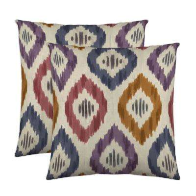 Aura 18 in. x 18 in. Prism Decorative Pillow (2-Pack)