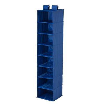 8-Shelf Navy Polyester Hanging Organizer
