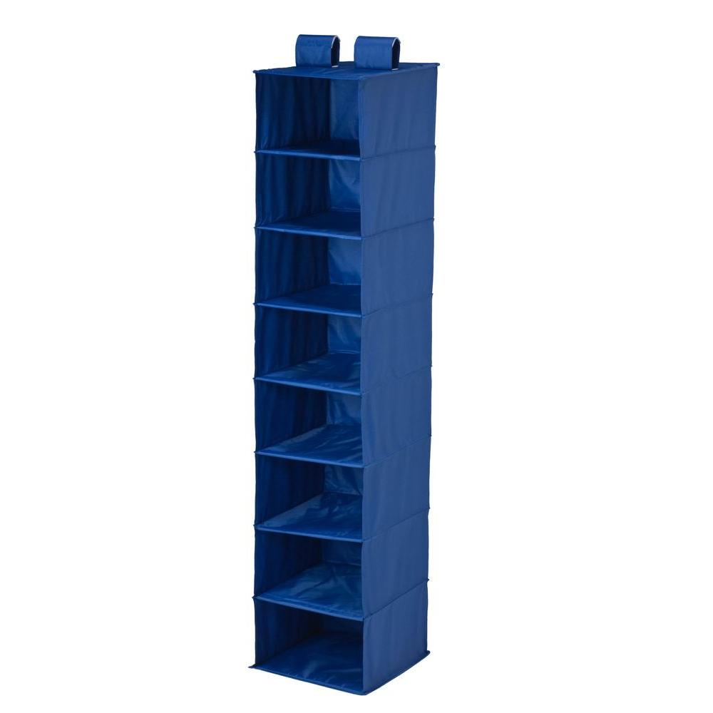 8-Shelf Hanging Navy Polyester Organizer