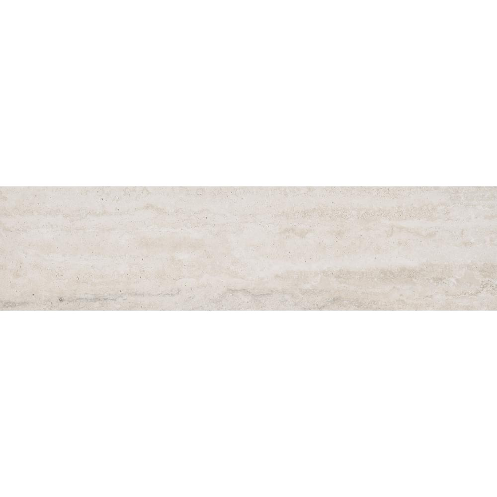 Trevi White 6 in. x 24 in. Glazed Porcelain Floor and