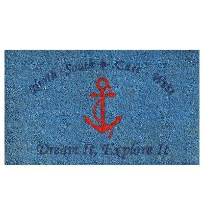 Red Anchor Door Mat 17 in. x 29 in.