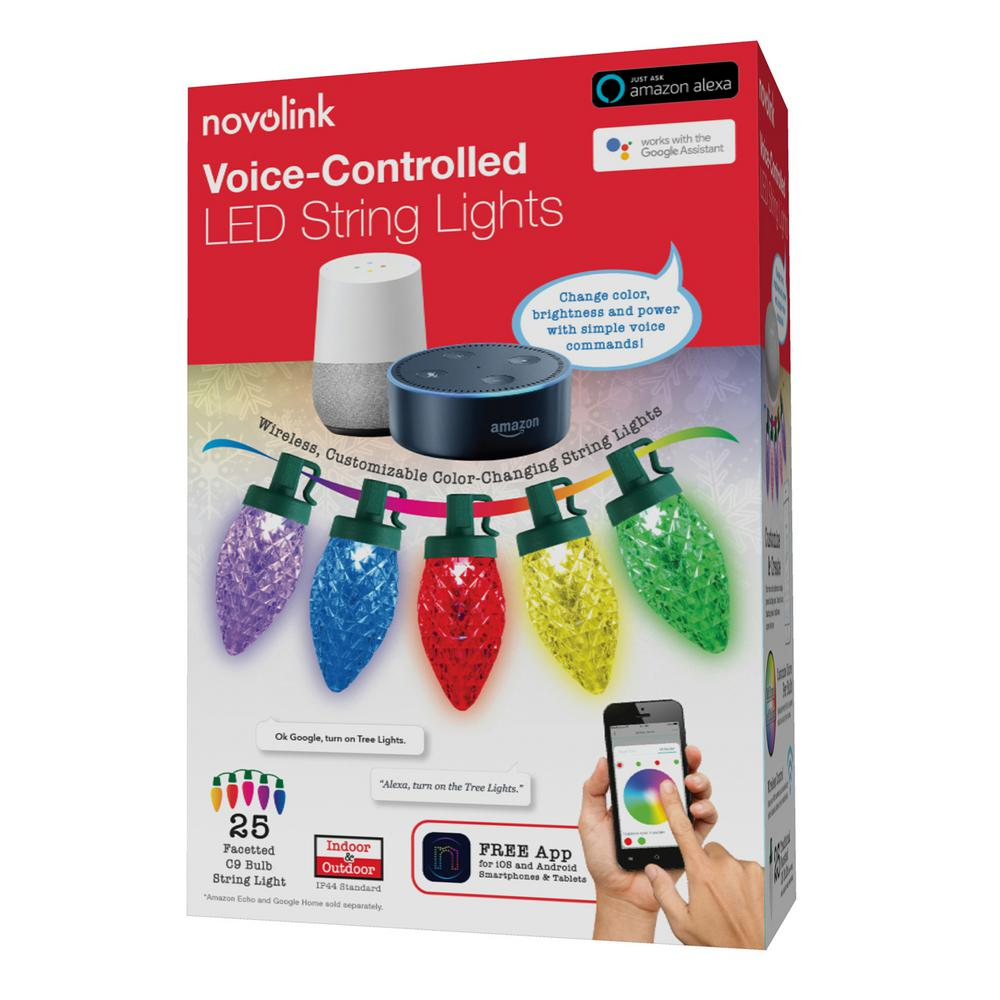 CHRISTMAS HOLIDAY LIGHTS PHILIPS 25 CT FACETED C9 MULTI COLOR INDOOR OUTDOOR