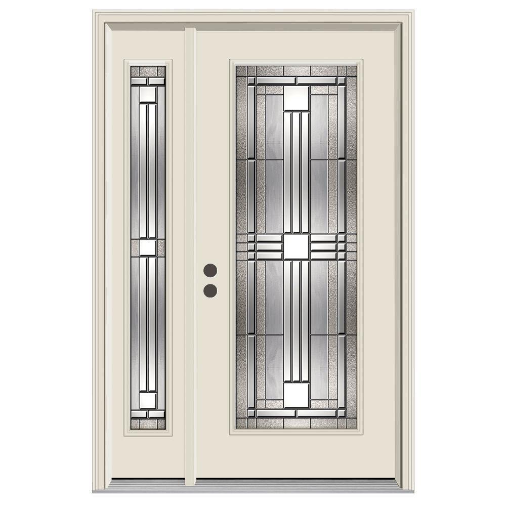 Jeld Wen 52 In X 80 In 3 4 Lite Idlewild Primed Steel Prehung Right Hand Inswing Front Door