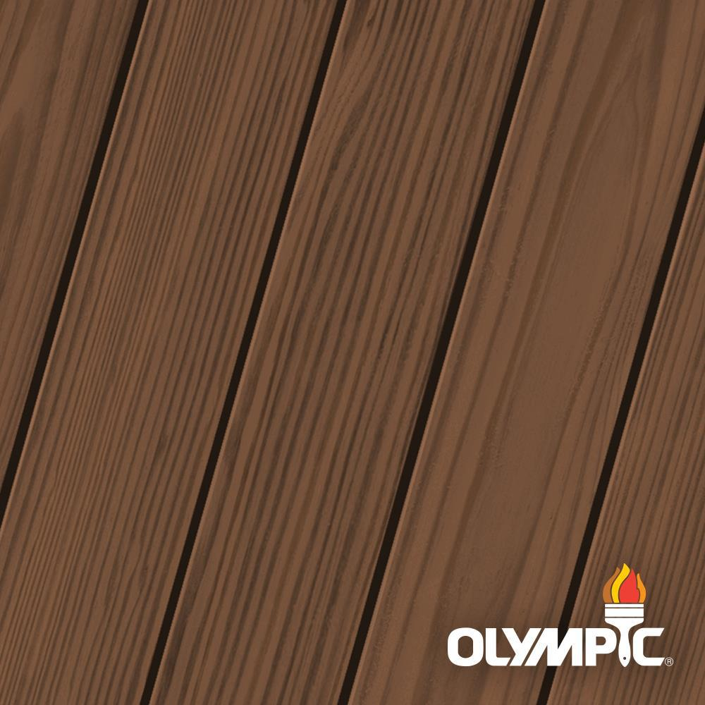 Olympic Elite 1 Gal. Canyon Sunset Semi-Solid Exterior Wood Stain and Sealant in One
