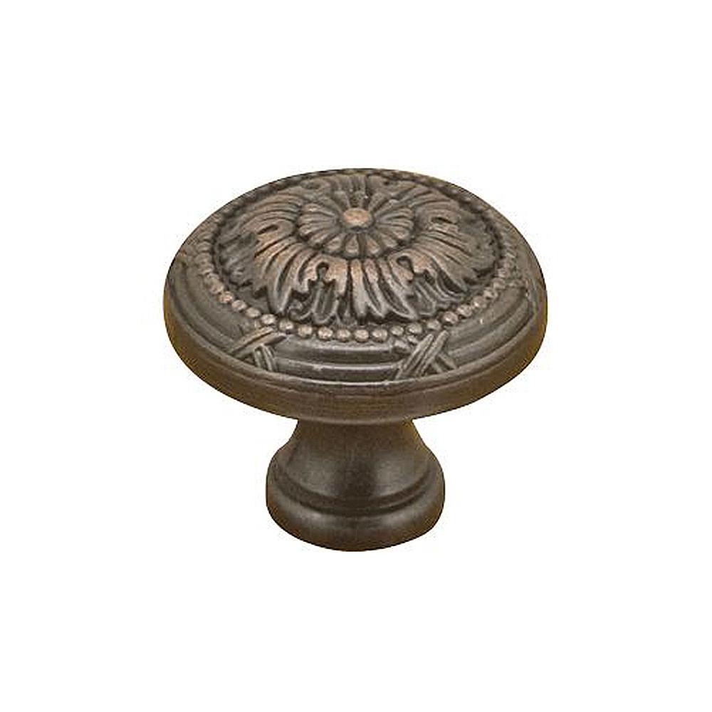 1-1/4 in. Oil Rubbed Bronze Aged Mushroom Cabinet Knob