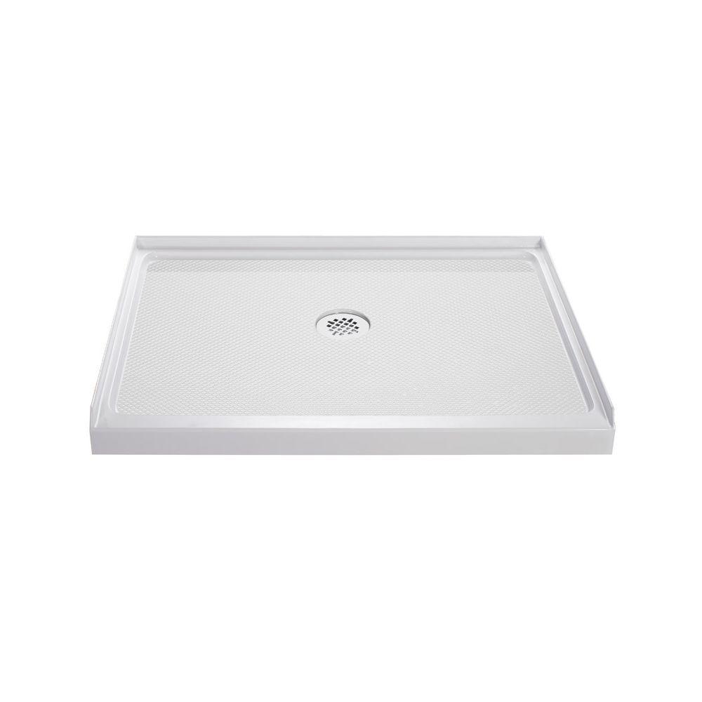 SlimLine 42 in. W x 34 in. D Single Threshold Shower Base in White