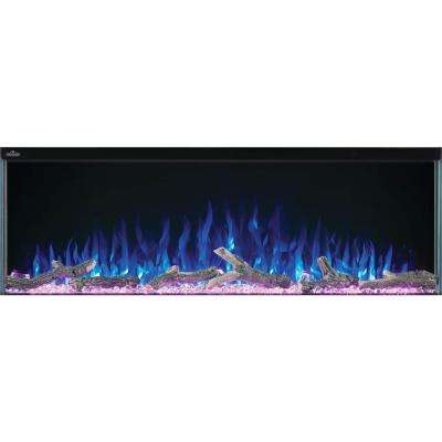 TriVista 50 in. 3-Sided Electric Fireplace in Black