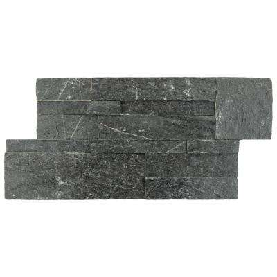 Ledger Panel Black Quartzite 7 in. x 13-1/2 in. Natural Stone Wall Tile (6 cases / 31.5 sq. ft. / pallet)