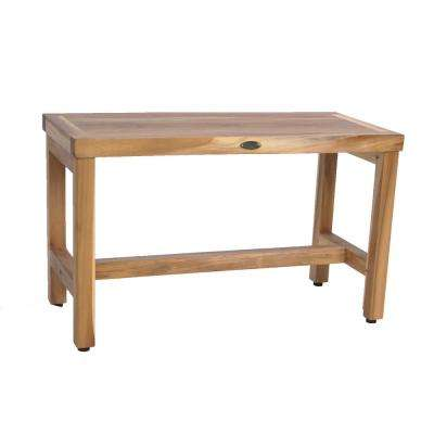 EarthyTeak Classic 30 in. Teak Shower Bench