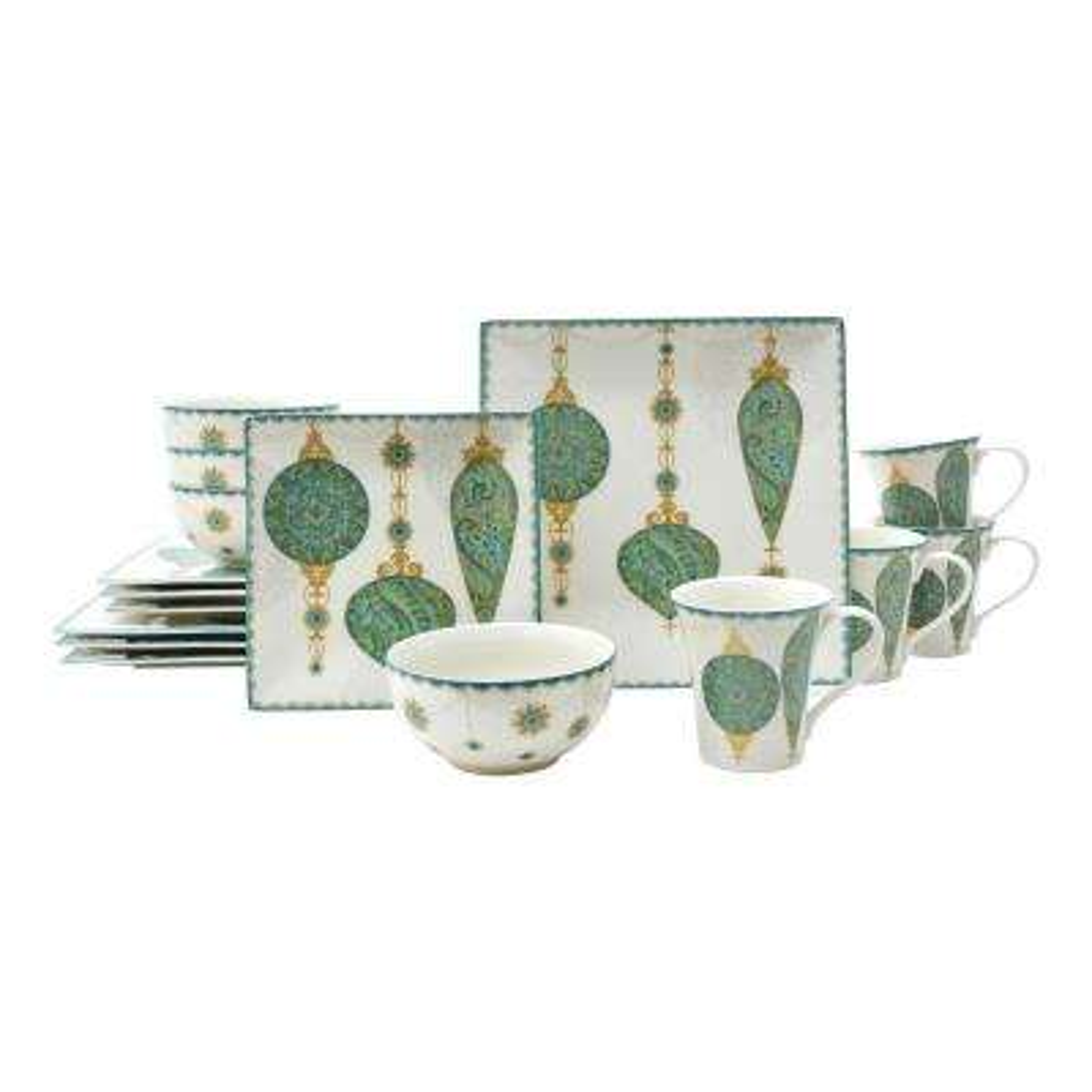 Constantina Turquoise 16-Piece Dinnerware Set
