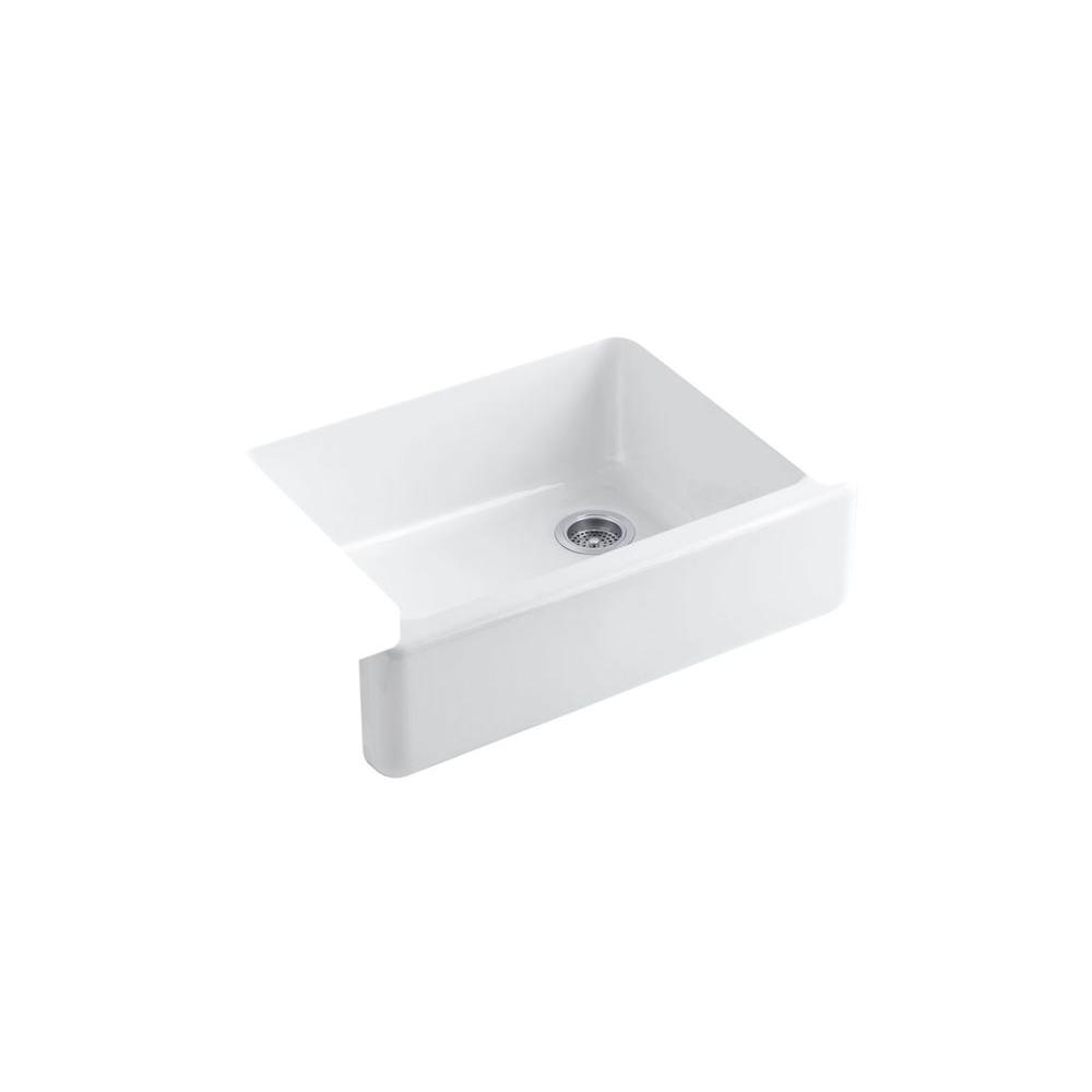 Kohler Whitehaven Farmhouse A Front Cast Iron 30 In Single Bowl Kitchen Sink White