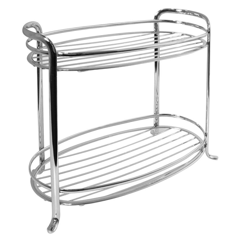 interDesign Axis 2-Tier Shelf in Chrome