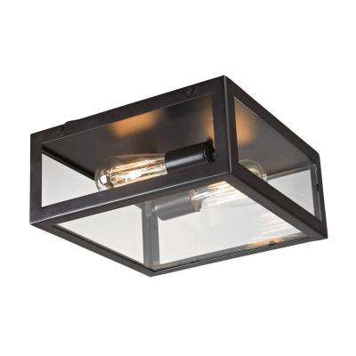 Parameters-Bronze 2-Light Bronze Ceiling Mount Flushmount