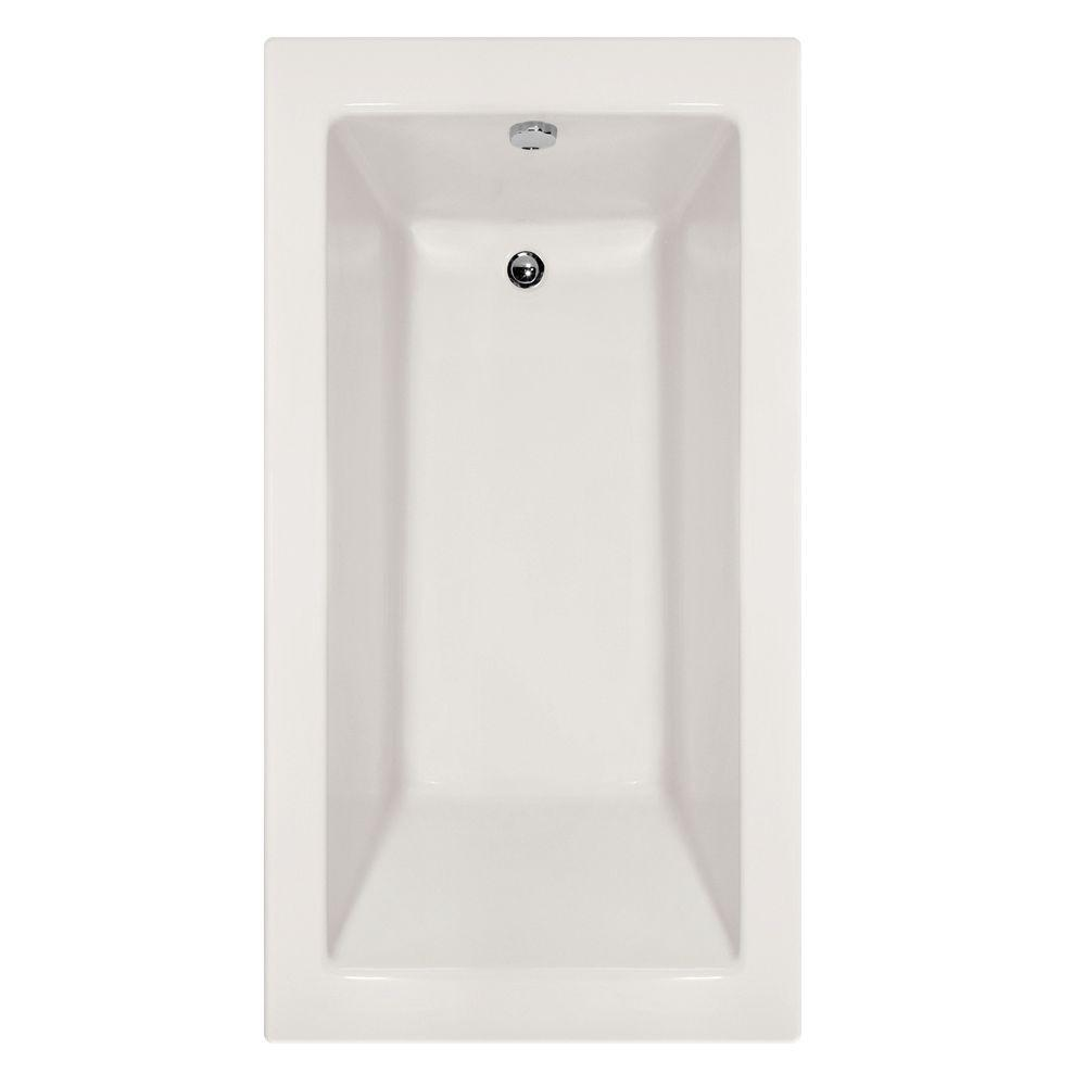 Studio Sydney 5.5 ft. Left Drain Soaking Tub in White