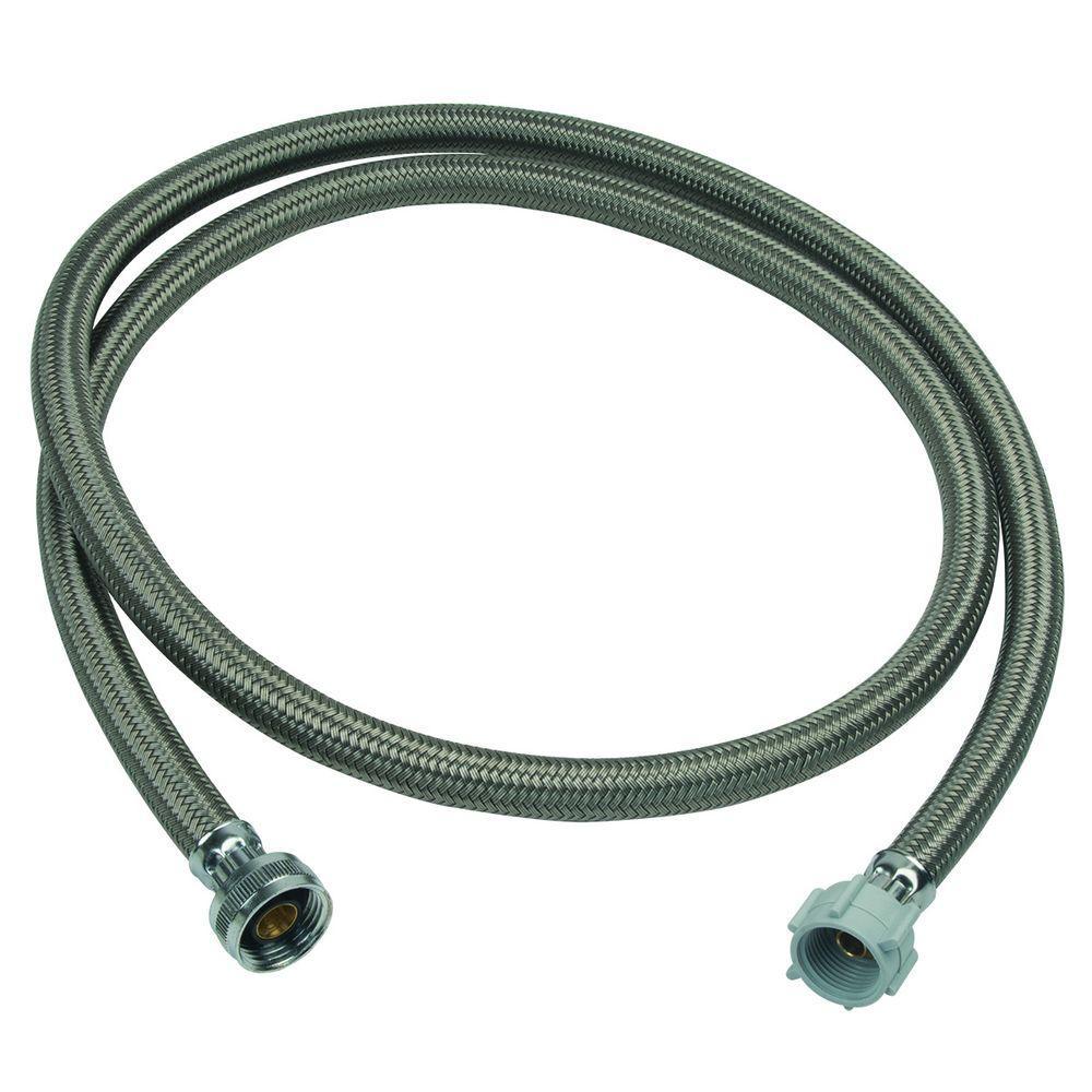 BrassCraft 3/4 in. Female Hose Thread x 7/8 in. Ballcock Nut x 72 in. Braided Polymer Toilet Connector