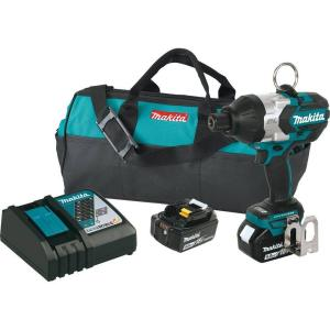 Makita 18-Volt LXT Lithium-Ion Brushless Cordless High Torque 7/16 inch Hex Chuck Impact Wrench Kit w/ (2) Batteries... by Makita