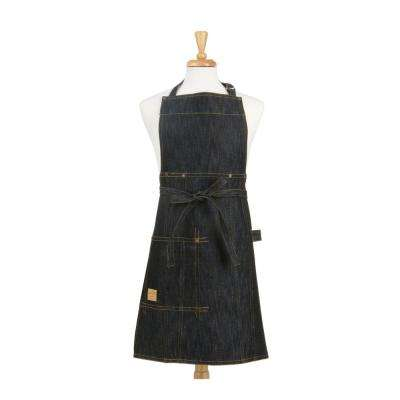 Vintage Draper Denim Adult and Kids Apron Set, Indigo Blue