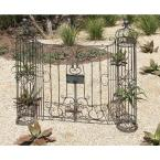 Litton Lane 62 in. x 67 in. Wrought Iron Garden Gate Decor with Swinging Doors