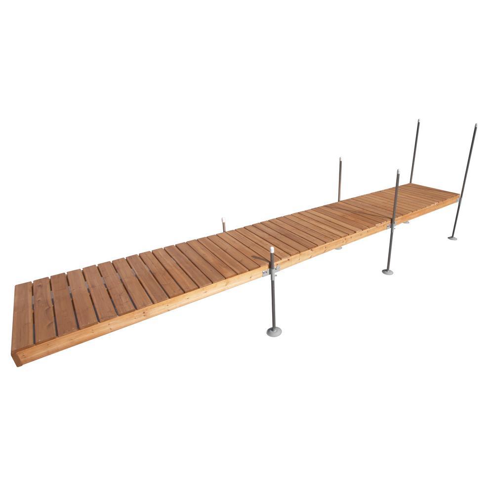 Tommy Docks 24 ft. Straight Cedar Complete Dock Package