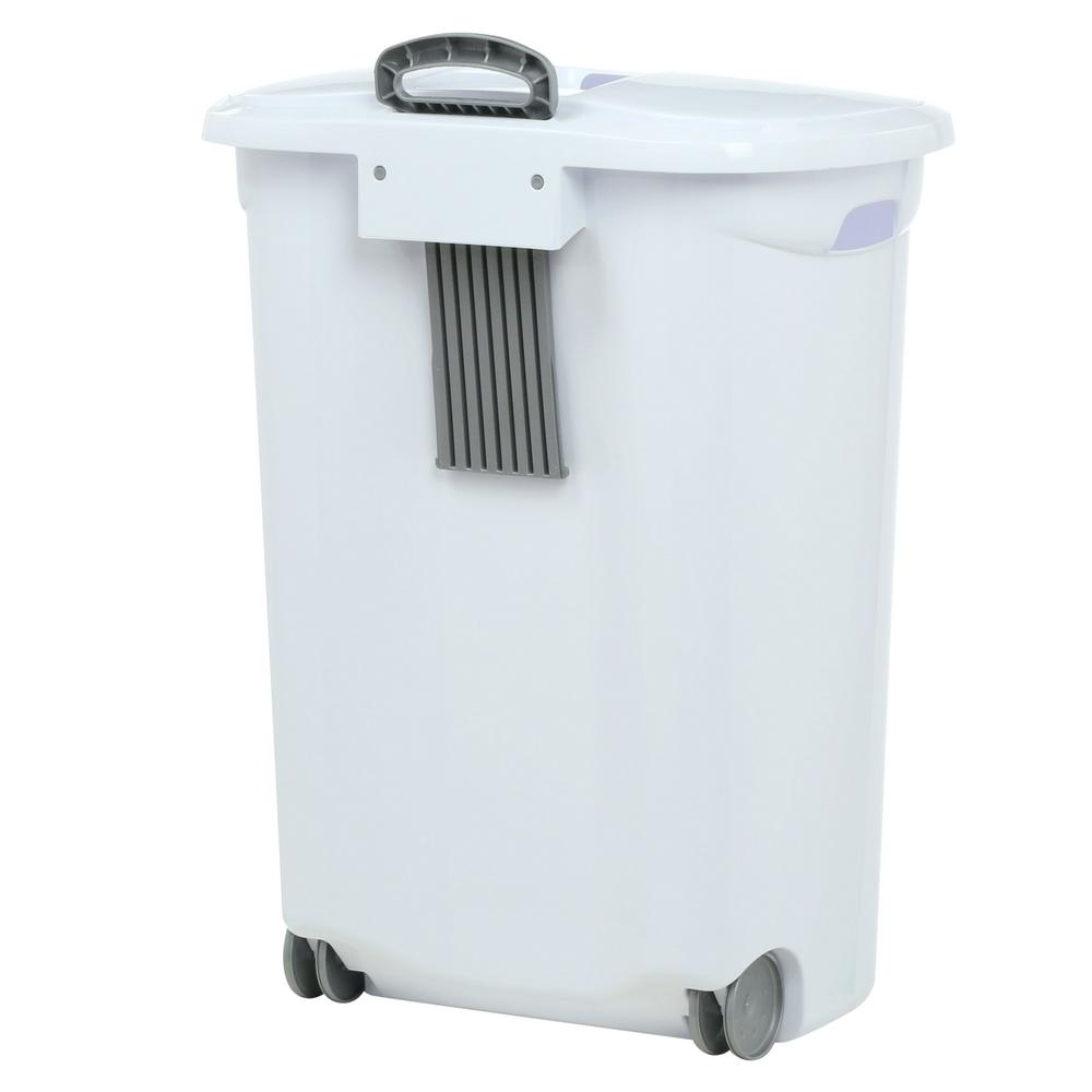 rolling laundry hamper basket portable wheeled clothes storage organizer bin lid ebay. Black Bedroom Furniture Sets. Home Design Ideas