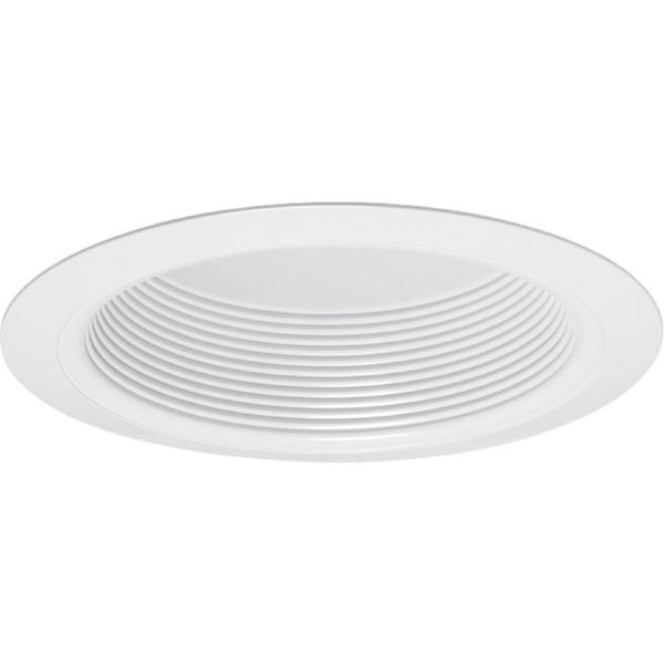 Contractor Select 6 in. White Recessed Baffle Trim with Torsion Springs