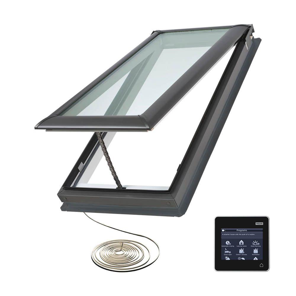 VELUX 21 in. x 37-7/8 in. Fresh Air Electric Venting Deck-Mount Skylight with Laminated Low-E3 Glass