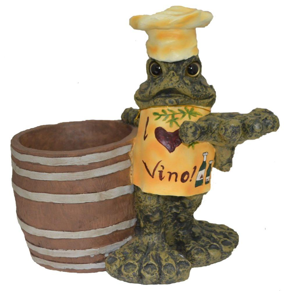 13 in. I Love Vino Toad Wine/Ice Bucket
