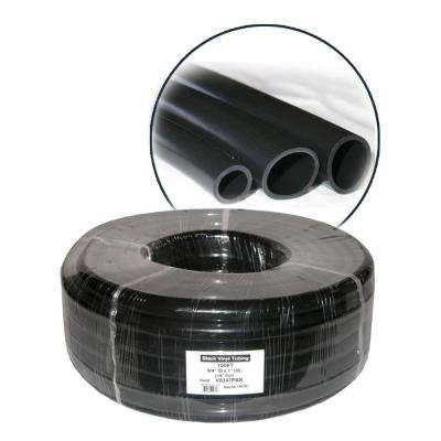 3/8 in. ID x 1/2 in. OD x 1/16 in. Wall PVC Tubing Coil in Black