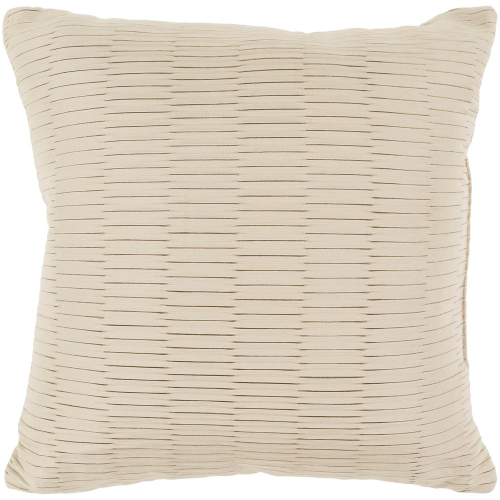 Gordon Beige Geometric Polyester 16 in. x 16 in. Throw Pillow