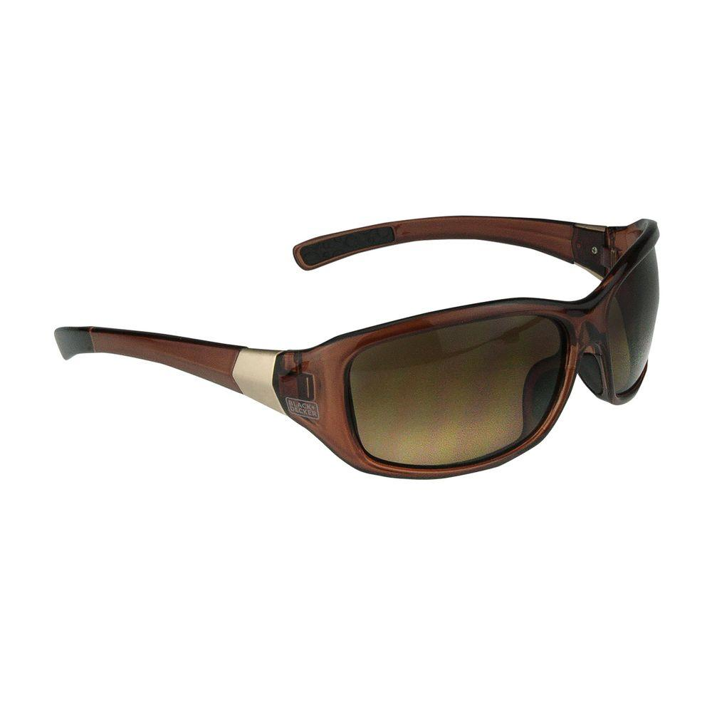 Crystal Brown Smoke Gradient Lens Full Frame Fashion Safety Glasses
