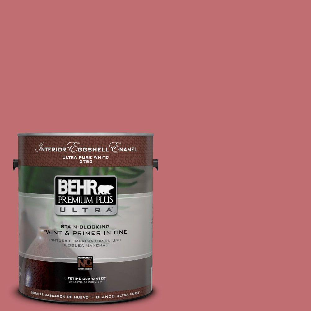 BEHR Premium Plus Ultra 1-gal. #HDC-SP14-8 Art House Pink Eggshell Enamel Interior Paint