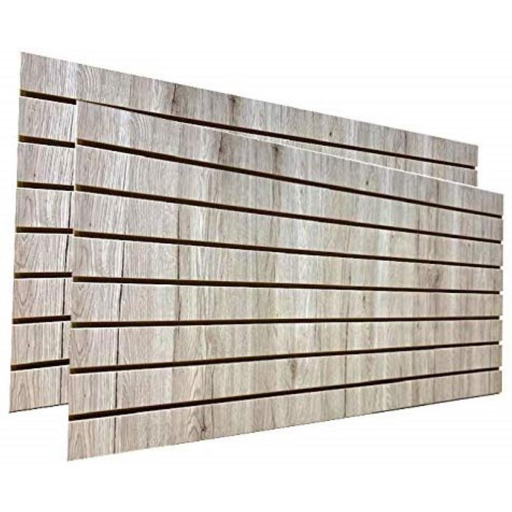 Only Hangers 24 in. H x 48 in. L Barnwood Slatwall Panels (Set of 2 Panels)
