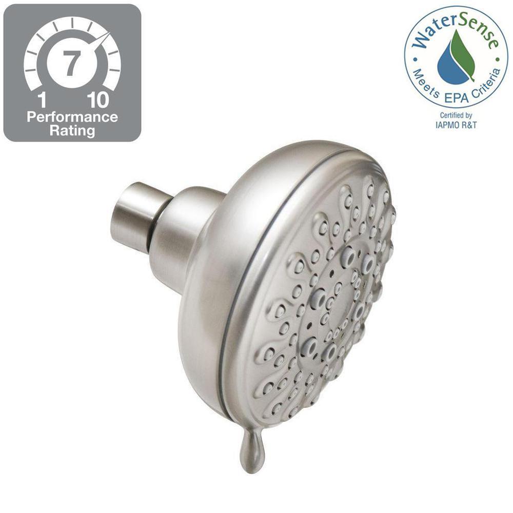 Banbury 5-Spray 4 in. Showerhead in Spot Resist Brushed Nickel