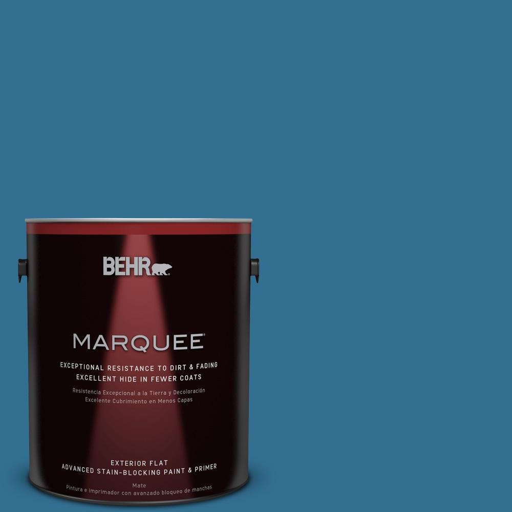 1 gal. #T18-14 Soul Search Flat Exterior Paint