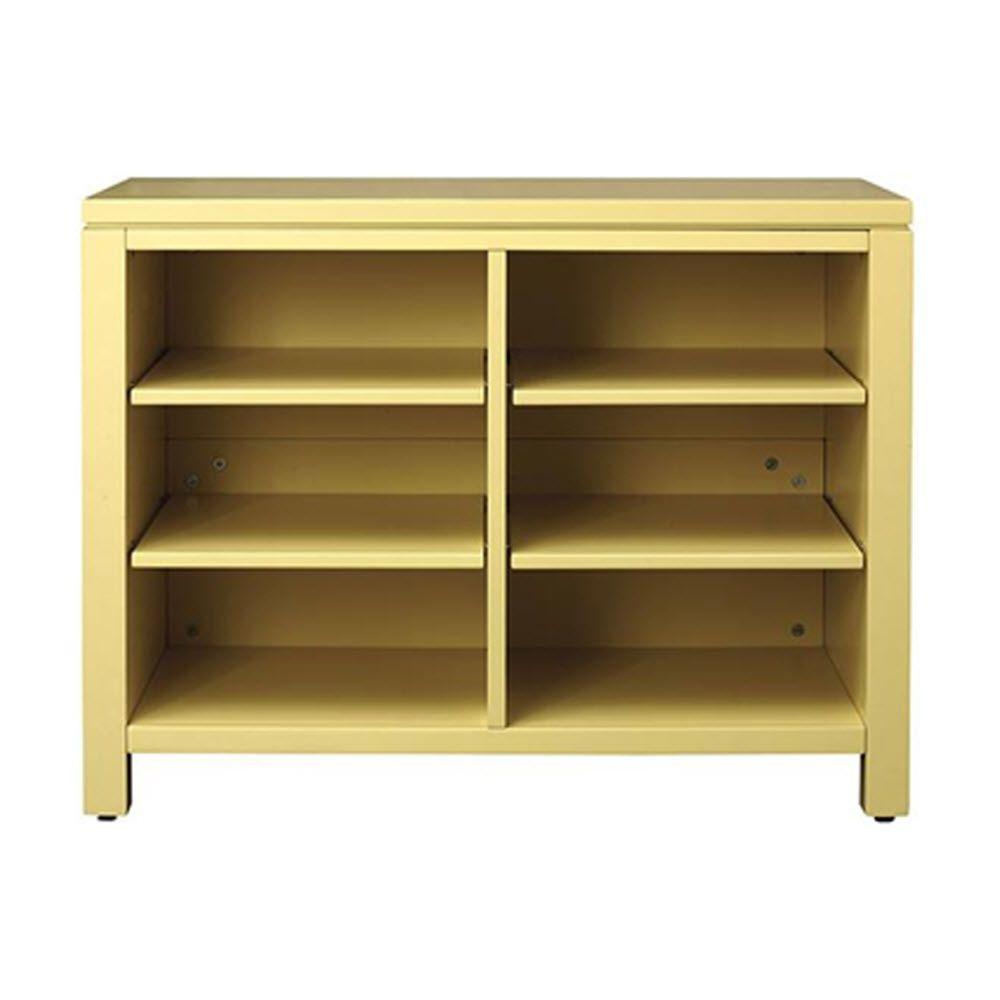 Kids 33 in. W x 25.5 in. H Wide Open Storage Cabinet in Cornbread