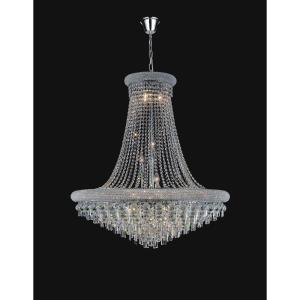 Kingdom 20-light chrome chandelier