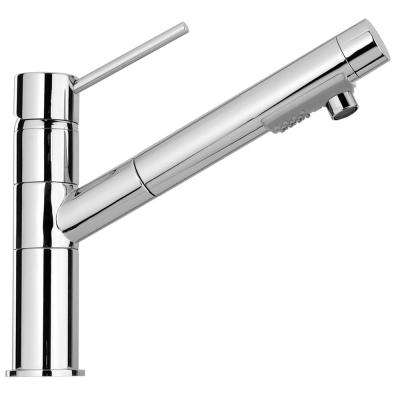 Elba Single-Handle Pull-Out Sprayer Kitchen Faucet in Chrome