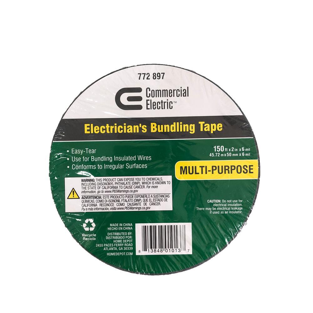 2 in. x 150 ft. Vinyl Electrical Bundling Tape - Silver